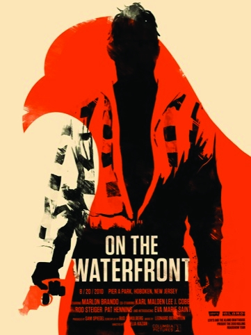 On the Waterfront movie poster for the Rolling Roadshow 2010 by Olly Moss
