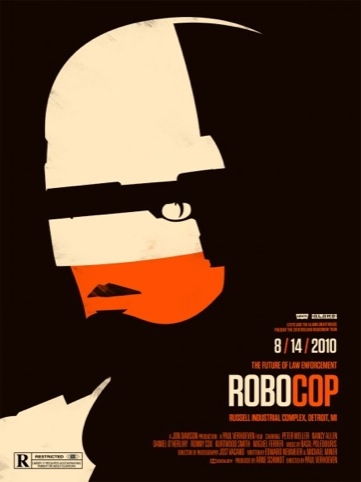 Robocop movie poster for the Rolling Roadshow 2010 by Olly Moss