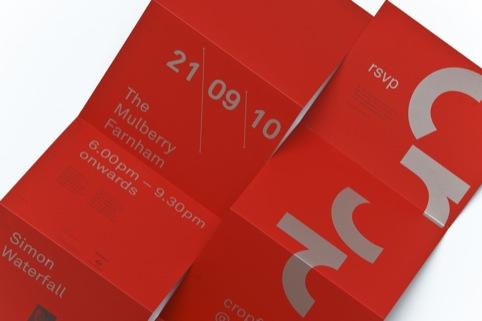 Crop invitations designed by Bekker