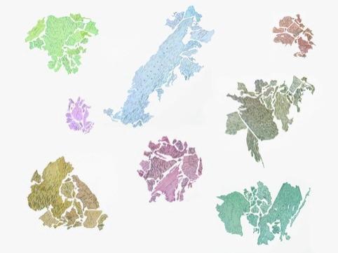 Jorge Macchi - Serpentine Gallery Map. Image © Jorge Macchi