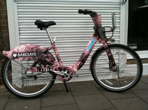 A customised Boris's bike snapped in Hackney