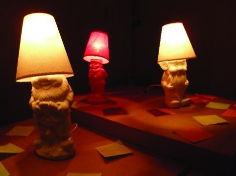 Jukka Hakanen's gnome lamps