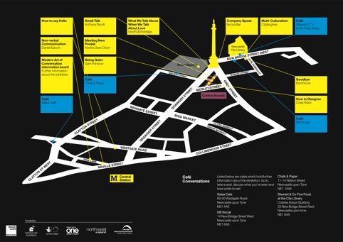 The map to help you find your way around the city-wide exhibition