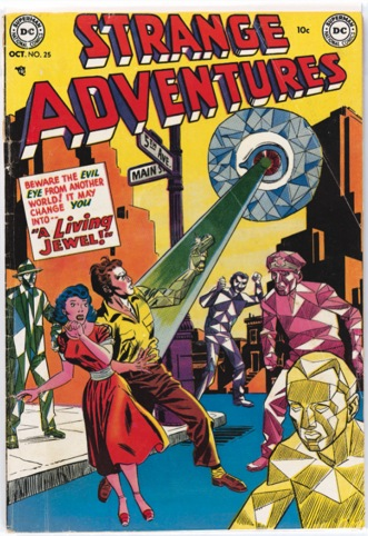 Strange Adventures No. 25. Cover art, Gil Kane and Joe Giella, copyright DC Comics