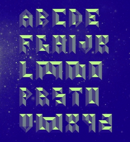 Metalface display font by Jon Arne Berg