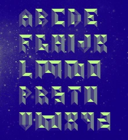 Metalface display font by Jon Arne Berg