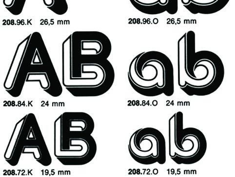 Zelek letraset font