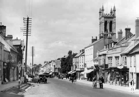 A traditional high street from Fotolibra's collection