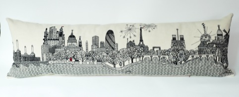 Cityscape cushion from Charlene Mullen