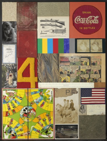 Children's Games I, 2010, collage with found objects (c) Peter Blake