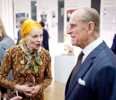 HRH Prince Philip and Vivienne Westwood