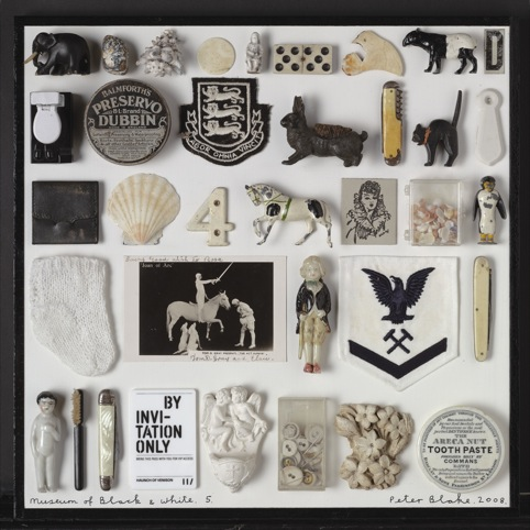 Museum of Black and White No 5, 2010 collage with found objects (c) Peter Blake