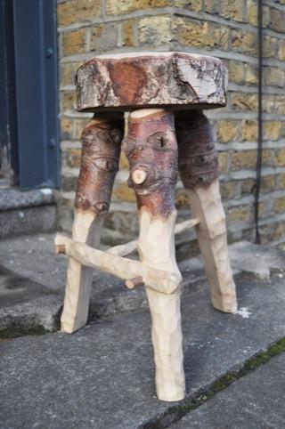 The Christmas tree stool