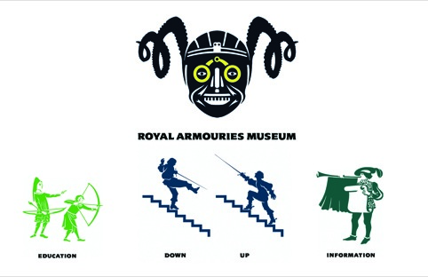 The Royal Armouries Museum Leeds identity by Minale Tattersfield