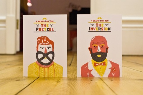 Sane and Able's festive beard cards