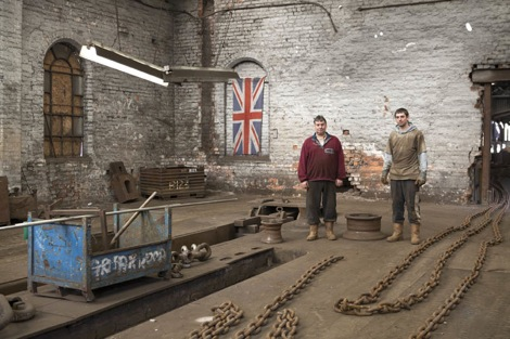 Chain Makers at Griffin Woodhouse Ltd in Cradley Heath by Martin Parr