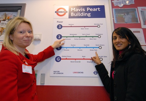 Orchard Hill College principal Caroline Allen and Sheenal Patel from TFL