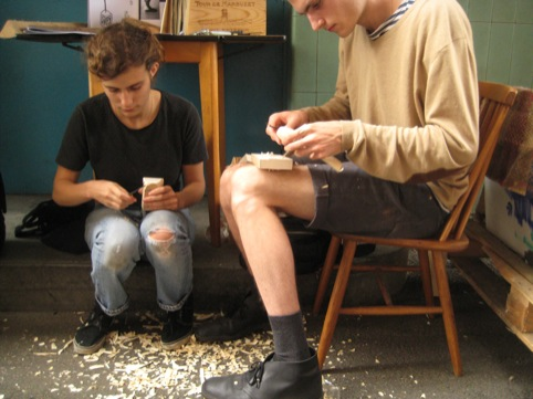 Whittling in action