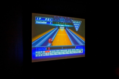 Cory Arcangel, Self Playing Sony Playstation 1 Bowling, 2008, Handmade hacked Sony Playstation 1 controller and video game system
