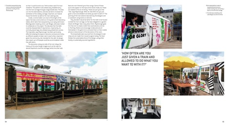 A spread from the book featuring The Deptford Project