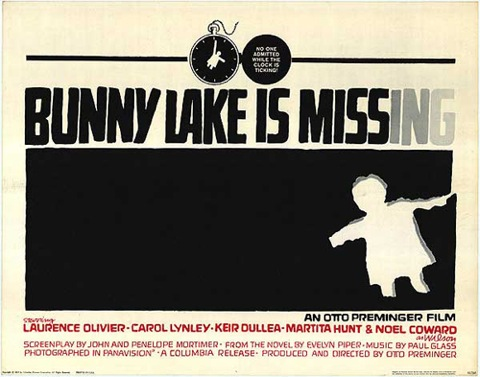 Bunny Lake is Missing, by Saul Bass