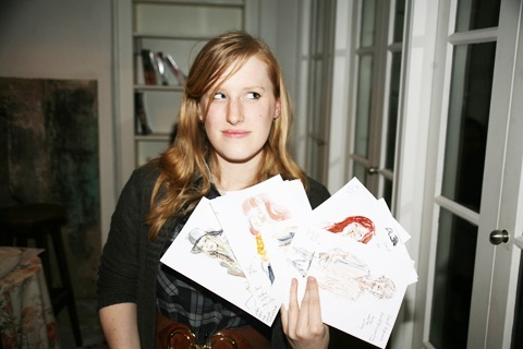 Illustrator Jenny Robins and her drawings