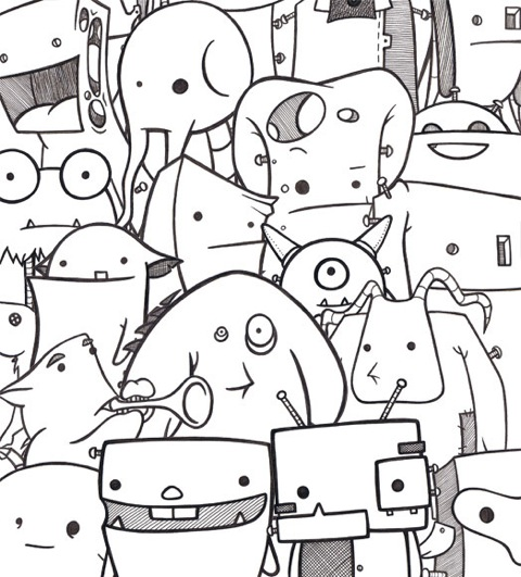 A collection of doodles by Stina Jones