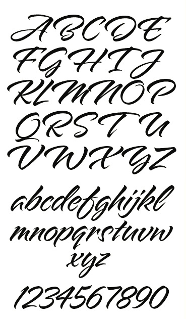 LHF Alpine Script by Arthur Vanson for Letterhead Fonts