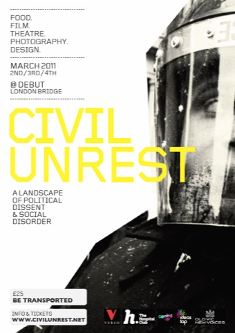 The poster for Civil Unrest