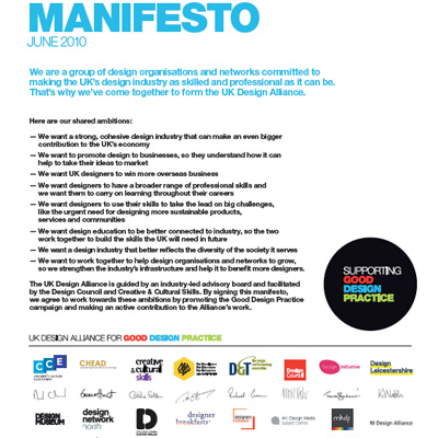 UK Design Alliance Manifesto