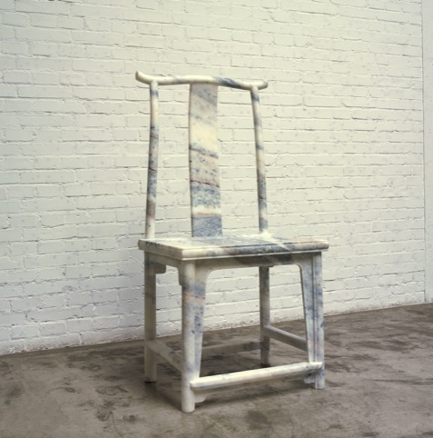 Ai Weiwei, Marble Chair, 2008. Marble, 120 x 56 x 46 cm. Courtesy the artist