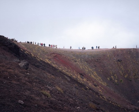 On Mount Etna, Sicily, Wim Wenders courtesy of Haunch of Venison