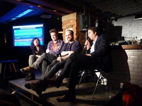 Subeena, Adam Harper, Matthew Herbert and chair Oliver Beatty