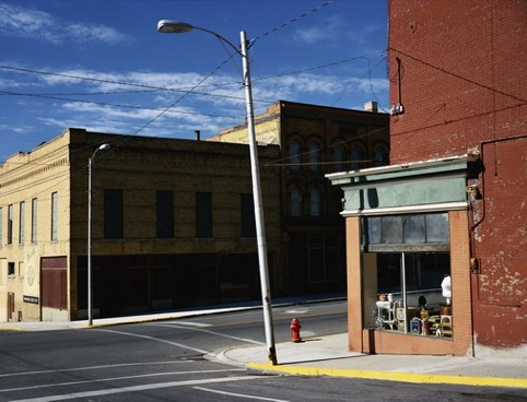 Street Corner, Butte Montana. Wim Wenders courtesy of Haunch of Venison.