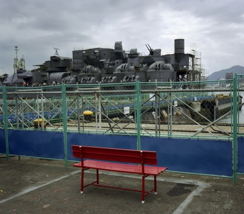 The Red Bench, Onomichi. Wim Wenders courtesy of Haunch of Venison