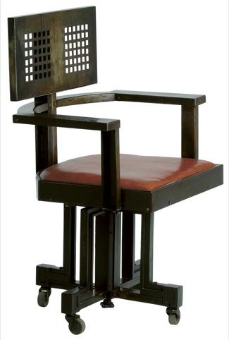 Larkin Building Chair, Frank Lloyd Wright, Von Dorn Iron Works Company, USA, 1904