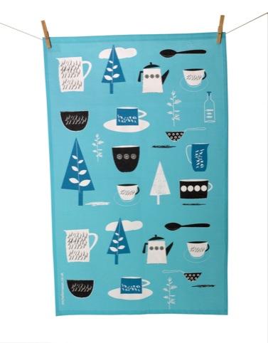 Forest Picnic Tea Towel