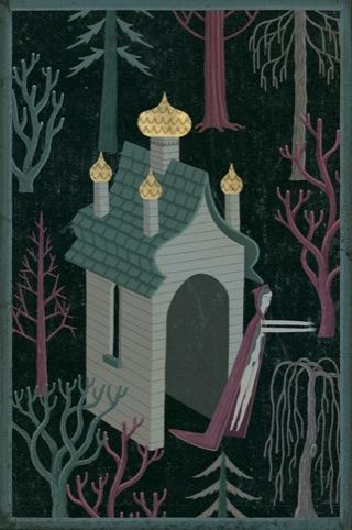 an eerie castle