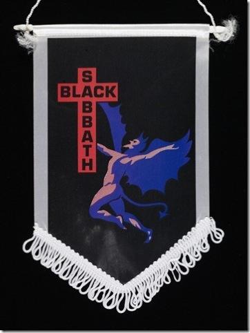 A black Sabbath banner