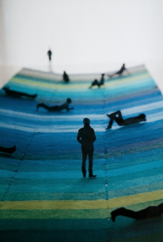 Textile Field installation by the Bouroullec Brothers, with Kvadrat