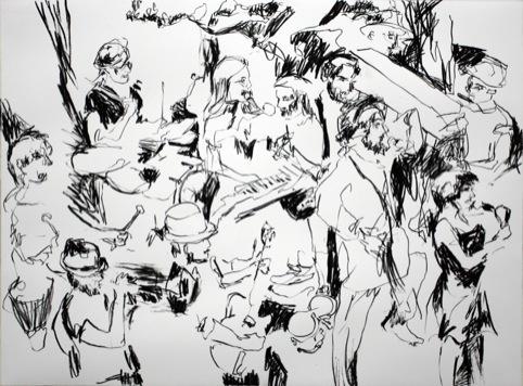 Ed Sharpe Charocal on Paper (c) Todd DiCiurcio
