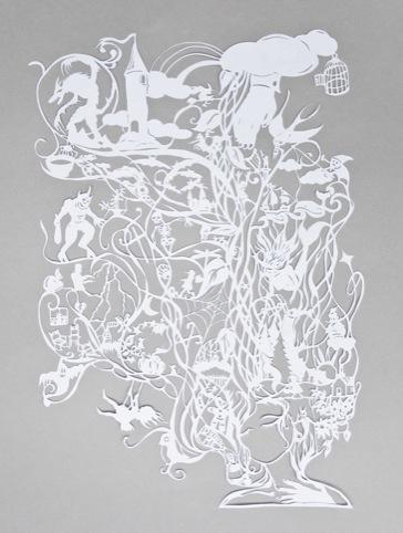 Damian O'Hara's papercut for the festival