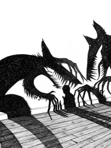 From Anna  the Juniper Dog, illustrations by Rohan Daniel Eason
