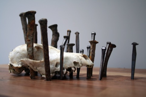 Katie Louise Surridge, Skull and Nails 2011. Credits courtesy of the artist and EB  Flow