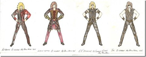 A range of leather costumes