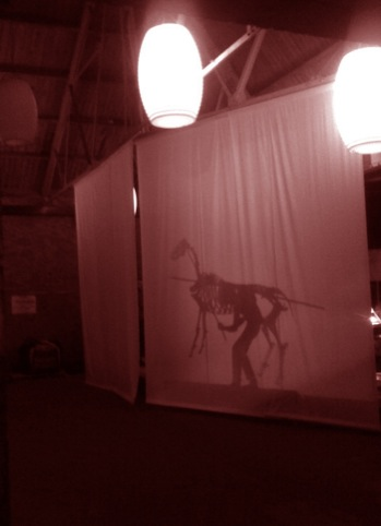 Necks of the woods shadow puppet rehearsals by Panflashtic
