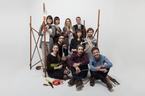 Sam Baron with Fabrica students in Milan