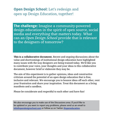 Open design school