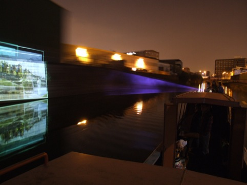 The Floating Cinema in the evening