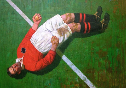 Paul Slater Man Peeling A Potato 107x82 Oil on Canvas